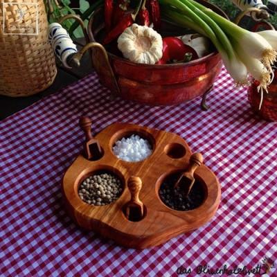 Servierbrett für Salz, Pfeffer und Kräuter incl. Serviergriff